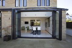 floor to ceiling cupboards House Design, House, Building A House, Modern Glass Kitchen, Beach House Exterior, Conservatory Design, House Designs Exterior, Modern Conservatory, Kitchen Extension