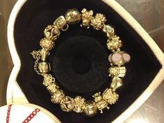 Gold Pandora Bracelet - something to build with love and spoiling yourself