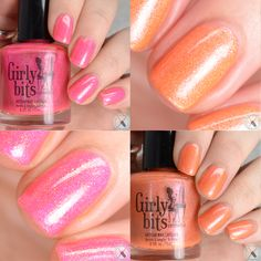 Girly Bits Cosmetics July 2016 COTM Duo - two sizzling hot colors only available the month of July! Get your order in now! Swatches by Polished Pathology