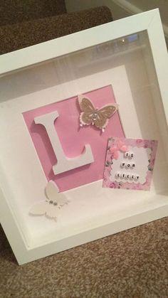 Block Letter Initial Frame Girl Or Boy