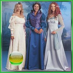 McCalls 3797 Medieval Maids in the Mist Dress Patterns