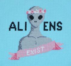 Aliens Exist Cross Stitch Pattern by HanksPatternPlace on Etsy