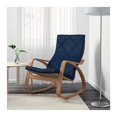 POÄNG Fauteuil à bascule - Edum bleu foncé - IKEA