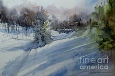 """""""Northern Exposure""""   Original Watercolor by Sandra L. Strohschein,   available.   sandystrohs@gmail.com"""