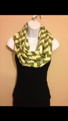 New to Sewdivine77 on Etsy: Army green chevron double loop infinity cotton scarf (15.00 USD)