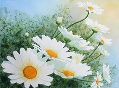 Daisy Chain by Dee Tunseth Watercolor ~ 16 x 21
