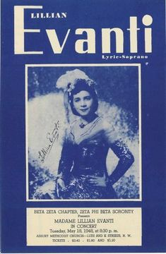 Famous Soprano Soror Madame Lillian Evanti (Annie Lillian Evans) was hosted by Beta Zeta Chapter in She was the first African American to sing grand opera professionally anywhere in the world. (c/o Victor Cox) Divine Nine, Phi Beta Sigma, Founders Day, Howard University, Sorority And Fraternity, Class Of 2020, Great Women, Daughter Of God, Greek Life