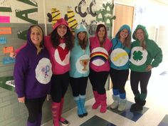Halloween costume group teacher costumes care bears