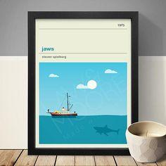 Jaws Movie Poster cartel de película película impresión