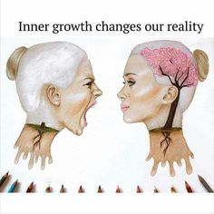 Inner growth changes our reality. Getting this pin from my daughter makes me know lessons are taking root. Pictures With Deep Meaning, Art With Meaning, Drawings With Meaning, Image Triste, Satirical Illustrations, Meaningful Pictures, Vie Motivation, Deep Art, Wow Art