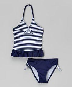 Love this Blue & White Stripe Tankini - Toddler & Girls by Jantzen on #zulily! #zulilyfinds