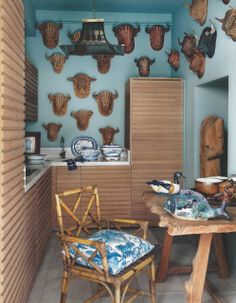 Kitchen in a duplex apartment in Madrid designed by Lorenzo Castillo