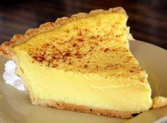 Old Fashioned Custard Pie ~ Aspiring Cuisine Just Desserts, Delicious Desserts, Yummy Food, Tart Recipes, Sweet Recipes, Custard Recipes, Pie Dessert, Dessert Recipes, Sweet Pie