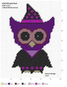 GIRL WIZARD OWL by DARLA'S DESIGN