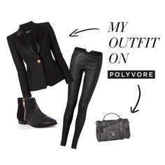 """Black on Black"" by colbyjune on Polyvore"