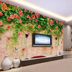 $9.95 (Buy here: https://alitems.com/g/1e8d114494ebda23ff8b16525dc3e8/?i=5&ulp=https%3A%2F%2Fwww.aliexpress.com%2Fitem%2FCustom-Photo-Large-Mural-Living-Room-TV-Backdrop-Wallpaper-3D-Stereoscopic-Flower-Non-woven-Wallpaper-Bedroom%2F32560639545.html ) Large Custom Mural Wallpaper Modern 3D Stereoscopic Brick Wall Non-woven Living Room TV Backdrop Photo Wallpaper Murals Flowers  for just $9.95