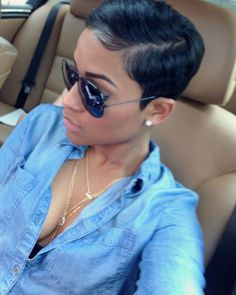25 cool African American pixie haircuts for short hair, hair frisuren, 25 cool African American pixie haircuts for short hair - Hairstyle Fix Short Pixie Haircuts, Pixie Hairstyles, Black Women Hairstyles, Short Hair Cuts, Pixie Cuts, African American Short Hairstyles, Hairstyles 2016, Black Pixie Haircut, Black Hair Short Hairstyles
