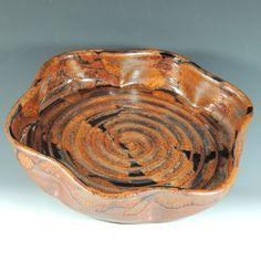 Deep Dish Pie Plate / Baker in Copper Lava by CarolBroadleyPottery, $33.00