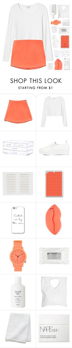 """""""PARDON ALL MY FAVOURS ♡"""" by feels-like-snow-in-september ❤ liked on Polyvore featuring Forever 21, Monki, WithChic, STELLA McCARTNEY, Komono, Stila, Fresh, Jennifer Haley, CB2 and NARS Cosmetics"""