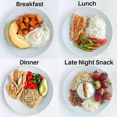 In order to lose weight you should be consuming healthy meals at least 5 times a day. # Food and Drink menu weight loss Healthy ways of eating 5 meals Healthy Meal Prep, Healthy Breakfast Recipes, Easy Healthy Recipes, Healthy Snacks, Easy Meals, Healthy Eating, Lunch Recipes, Healthy Workout Meals, Summer Recipes