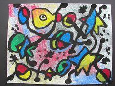 Miro, chalk & tempera on sand texture?