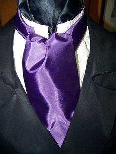 Cravat In A Royal Purple Fabric or Ascot Mens by lavonsdesigns, $19.95