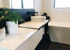 Quantum Tiles  Elektra Superwhite Lux   Vantablack   Pietra Lavica Cork Flooring, Carpet Tiles, Porcelain Tile, Bathrooms, Bathroom, Carpet Squares, Full Bath, Porcelain Tiles, Bath
