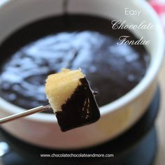 Easy Chocolate Fondue and Sara Lee Angel Food Cake #NationalAngelFoodCakeDay #chocolates #sweet #yummy #delicious #food #chocolaterecipes #choco
