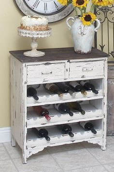 wine cabinet from an old dresser: