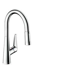 Hansgrohe Grifería de cocina: Talis S, Mezclador monomando de cocina con ducha…