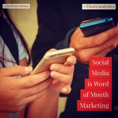 Social Media is Word of Mouth Marketing.  Do you agree? #👍 or #👎 Leave a comment below or tag a friend to share the message to everyone. 👉👉Follow @jaybraycabana and #thisisanalytics for more posts about #analytics, #DigitalMarketing, #BusinessStrategy 👉 @J2E.Tech #Consulting Word Of Mouth Marketing, Digital Marketing, Rings For Men, Tech, Social Media, Messages, Posts, Men Rings