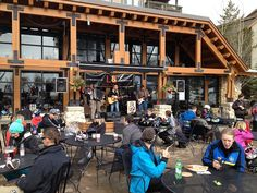 The band playing outside the day lodge