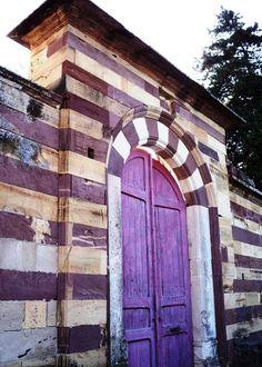 lovely purple door.. Chios Island, Greece