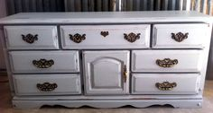Painted gray dresser by A to Z Custom Creations