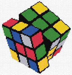 Cross Stitch | Rubik's Cube xstitch Chart | Design