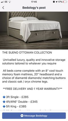 Storage Solutions, Memory Foam, Mattress, Ottoman, Chrome, Cool Stuff, Bedroom, Luxury, Classic