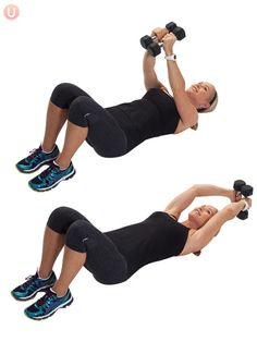 Overhead Pull: This exercise does not get used enough! It's such a great overall toner and one of the best ab exercises around- hands down.