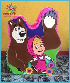 Piñata Silueta ,Masha y el oso
