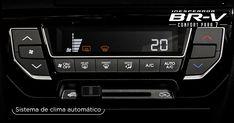 La #InesperadaBRV facilita cualquier trayecto con su sistema de clima automático* para que tú y tus pasajeros disfruten del camino con la comodidad que merecen. Además, incluye toma de 12 V para que no te falte nada durante el viaje.