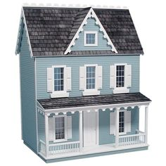 Vermont Farmhouse Jr. Dollhouse by Real Good Toys- cute little farm house. I'd do it in white though.