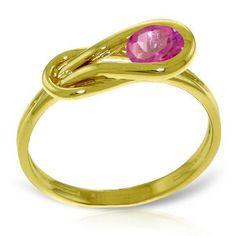 14K Solid Gold Subarban Living Pink Topaz Ring - 4215