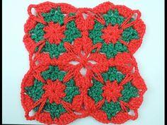 Crochet: Cuadrado # 18 en Dos Colores - YouTube