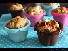 Kolorowa Kuchnia Magdy: Muffiny z fetą, suszonymi pomidorami i oliwkami