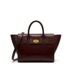 f4603b502e Shop the Bayswater with Strap in Oxblood Deep Embossed Croc Leather at  Mulberry.com.