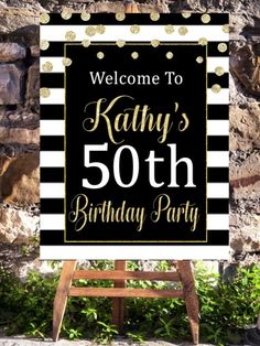 and fabulous birthday Decorations/ birthday party printables , , , This 50 and fabulous party printable welcome sign is perfect turning your event with matching birthday party decorations. 50th Birthday Party Ideas For Men, 60th Birthday Party Decorations, Moms 50th Birthday, 70th Birthday Parties, Adult Birthday Party, 50th Party, Birthday Woman, 50th Birthday Themes, Women Birthday