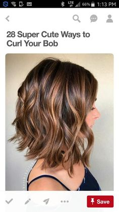 9 hottest balayage hair color ideas for brunettes in 2017 8 Short Hair Styles Easy, Medium Hair Styles, Curly Hair Styles, Easy Hairstyles For Medium Hair, Wavey Bob Hairstyles, Wavy Haircuts, Layered Bob Hairstyles, Lob Hairstyle, Hairstyle Ideas