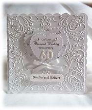 Personalised Handmade Diamond Wedding 60th Anniversary Card