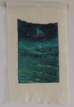 """If I Had A Sail Boat....   (12"""" x 21"""" wallhanging)"""