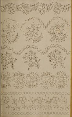 Grand Sewing Embroidery Designs At Home Ideas. Beauteous Finished Sewing Embroidery Designs At Home Ideas. Floral Embroidery Patterns, Hand Embroidery Patterns, Embroidery Stitches, Machine Embroidery, Bordados Tambour, Tambour Embroidery, Ribbon Embroidery, Mexican Embroidery, Embroidery Jewelry
