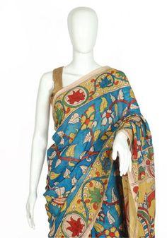 Kalamkari Hues by Desically Ethnic Beautiful Saree, Beautiful Dresses, Saree Blouse, Sari, Kalamkari Saree, Desi Wear, Casual Saree, Indian Sarees, Indian Wear